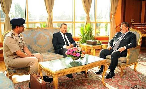 Perjumpaan mursi perdana menteri askar